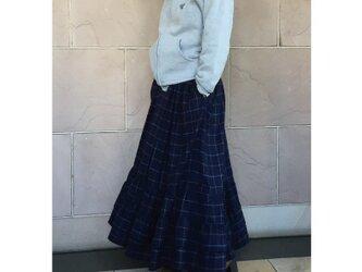 フランネル チェックティアードスカートの画像