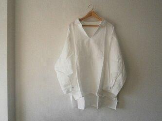 en-enチビ襟スッキッパ―シャツ・オフホワイトの画像