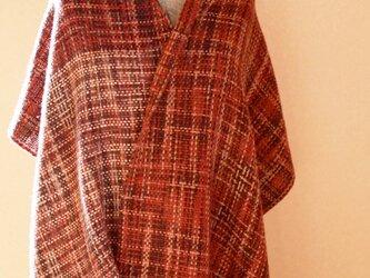 メリノウールの手織りショールの画像