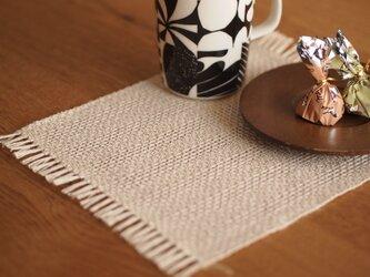 [受注製作]ヨーロピアンヘンプの手織りティーマットの画像
