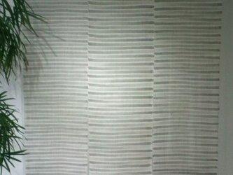 墨染め暖簾3巾の画像