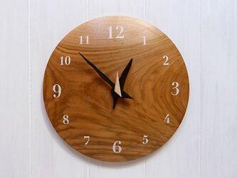 ヤマザクラ 26㎝ 曲面時計euph 002s 文字盤白色の画像