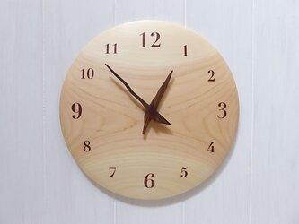 ヒノキの曲面時計euph 26センチ 003s 文字盤茶色の画像
