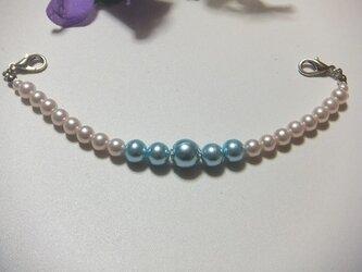 和雑貨  羽織紐◆控えめなのに存在感がある淡いピンクと水色ブルーの画像