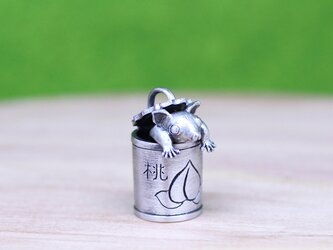 フクモモ缶/シルバーペンダント/sv925/40cmAJチェーンの画像