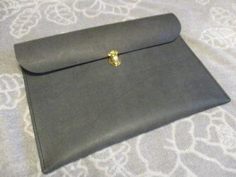 【栃木レザーの床革】クラッチバッグの画像