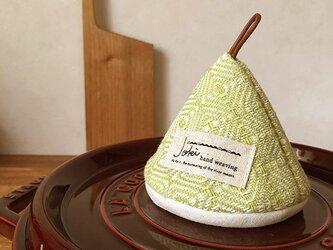 三角鍋つかみ[手織り]グリーンの画像