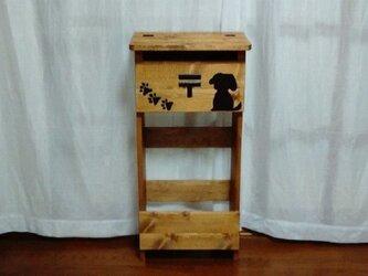 ★木製郵便ポスト 郵便受け★H90 犬付★の画像