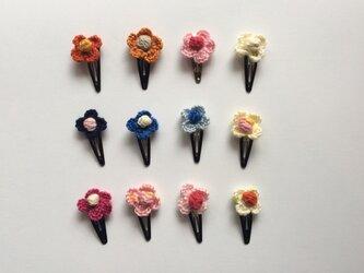 ふっくらお花のヘアピン 2個セットの画像