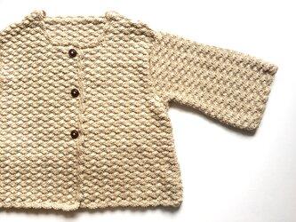 松編み模様のニットボレロの画像