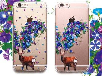 鹿蕣(あさがお) プリントケース iPhone7 iPhoneケース各種 スマホケースの画像