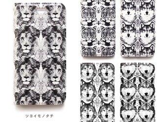 ★手帳型ケース★ツヨイモノタチ iPhoneX〜選択可能 iPhoneケースの画像