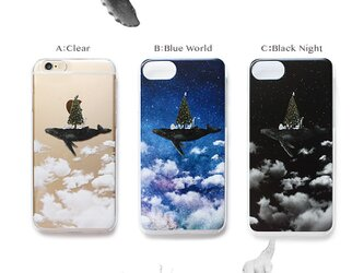 クジラツリー プリントケース iPhoneX iPhoneケース各種 スマホケースの画像