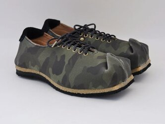 #Tokuyama Shoes:『tote this』blue-camouflage canvasの画像
