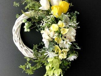 Tulip wreath yellowの画像