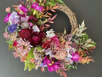Autumn Rose wreathの画像