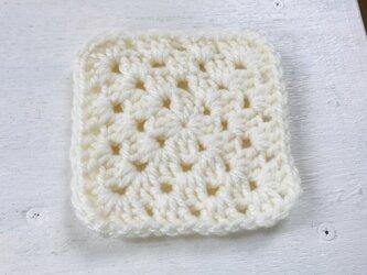 かぎ針編みコースター(クリーム)の画像