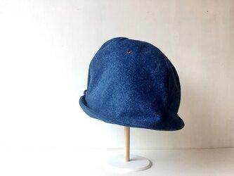 HELMA HAT | FLANNEL BLUE DENIM 【S】の画像