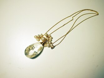 crystal necklace Aの画像