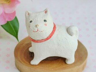 白い犬の陶器の置物(2018年 干支 戌) の画像