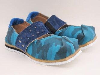 #Tokuyama Shoes:『tote it』blue-camouflage canvasの画像