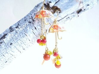 14KGF)☂UMBRELLA Earrings *梅花*の画像