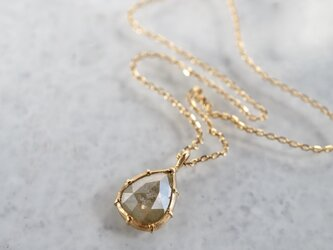 K18 Rose cut diamond pendant [OP700K18YG]の画像