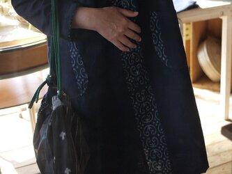 手織り久留米絣チュニックワンピースの画像