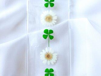 iPhoneケース お花とクローバーの画像