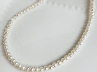 淡水パールの一連ネックレスの画像