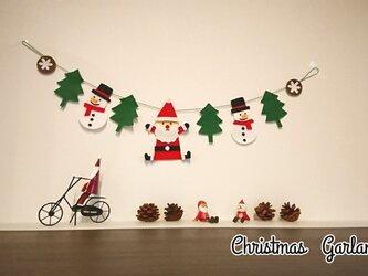 シンプルクリスマスガーランドの画像
