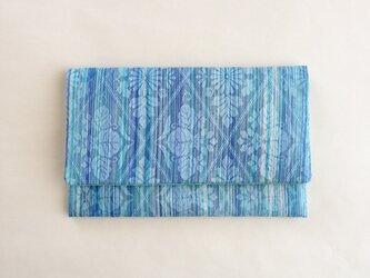 絹手染懐紙入れ(縦・水色系/薄緑)の画像