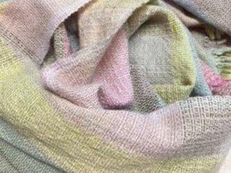 *手織り/植物染料/ストール/シャドウウィーブの画像
