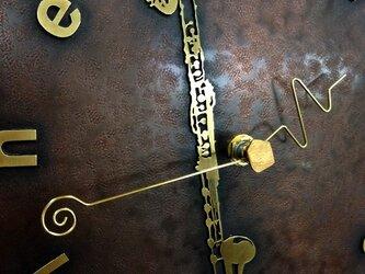 オーダーメイド「掛け時計/銅・真鍮製」(例:バスクラリネットでのオーダー)の画像