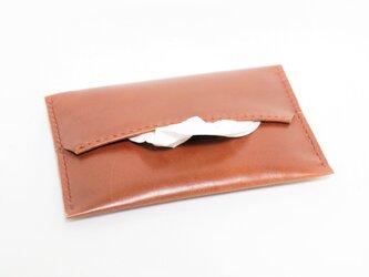 革のポケットティッシュカバー(茶:ブラウン)の画像