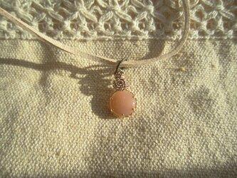 プチオレンジムーンストーンネックレス(パート2)の画像