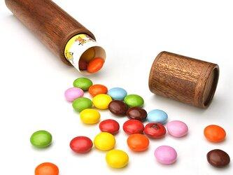明治マーブルチョコ専用木製ケースの画像