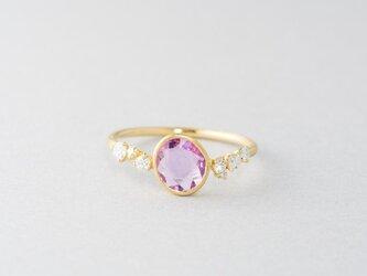 Legrand ピンクサファイアダイヤモンドリングの画像