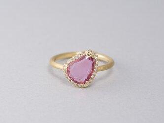 Rohmer ピンクサファイアダイヤリングの画像