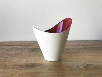 FLOREPOLIE 漆器カップ 白×赤(本朱)の画像