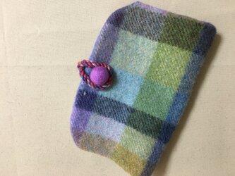 織りフェルトポーチの画像