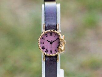 たそがれネコ腕時計Sパープルの画像
