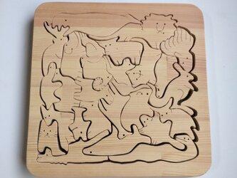 動物たくさんパズルの画像
