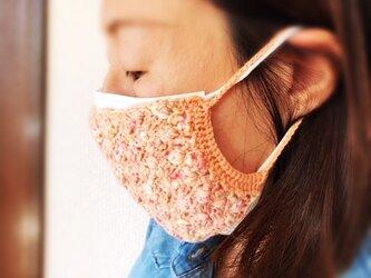 【手編みキット】使い捨てマスクもかわいく♪マスクカバーの画像