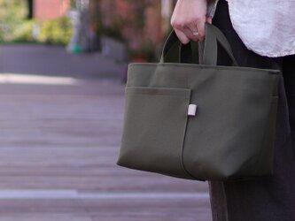 北欧×富士金梅 グレイッシュカーキ・帆布トートバッグ【シップトート】の画像