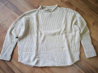 PO knit シャ wool90% cotton10%の画像