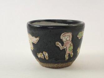 黒色のカップ-dairy-の画像