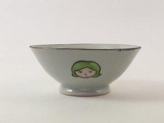 お顔お茶碗 -黄緑色の髪の女の子-の画像