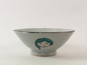 お顔お茶碗 -緑色の髪の女の子-の画像