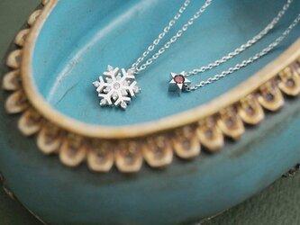 星&雪の結晶 ネックレス セット シルバー925の画像